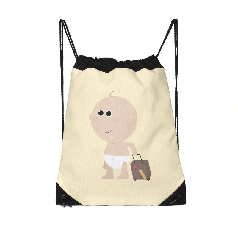 Just Landed Accessories Drawstring Bag Bag by IreneL's Artist Shop