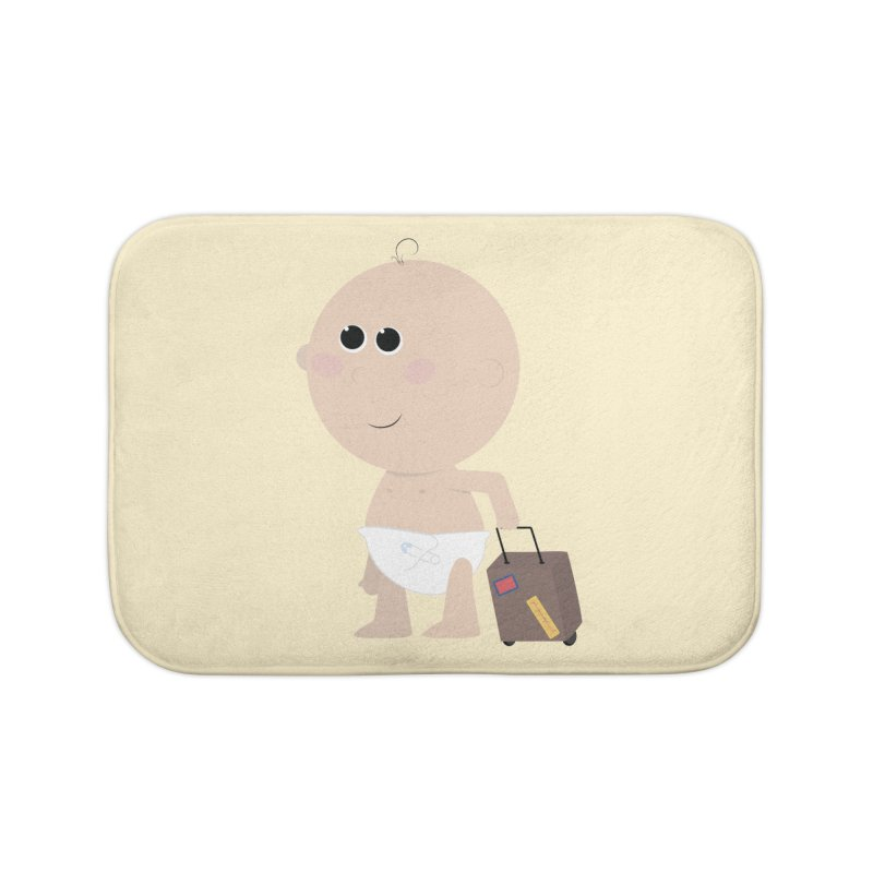 Just Landed Home Bath Mat by IreneL's Artist Shop