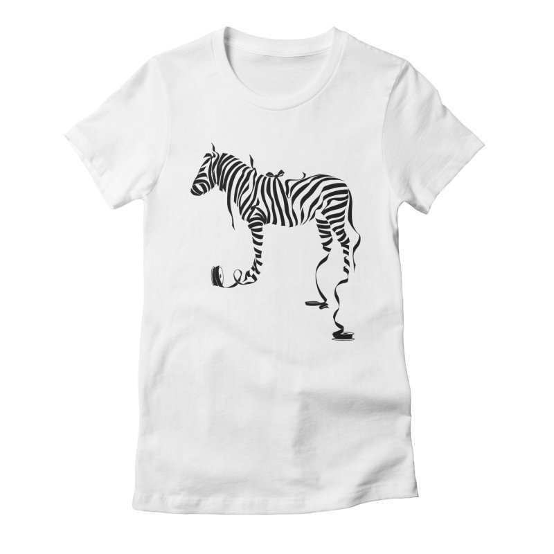 ZeeRibbons Women's Fitted T-Shirt by pennstudioink's Artist Shop