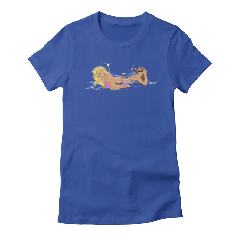 SkatePark Women's Fitted T-Shirt by pennstudioink's Artist Shop