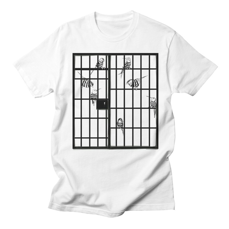 Jailbirds Men's T-shirt by pennstudioink's Artist Shop