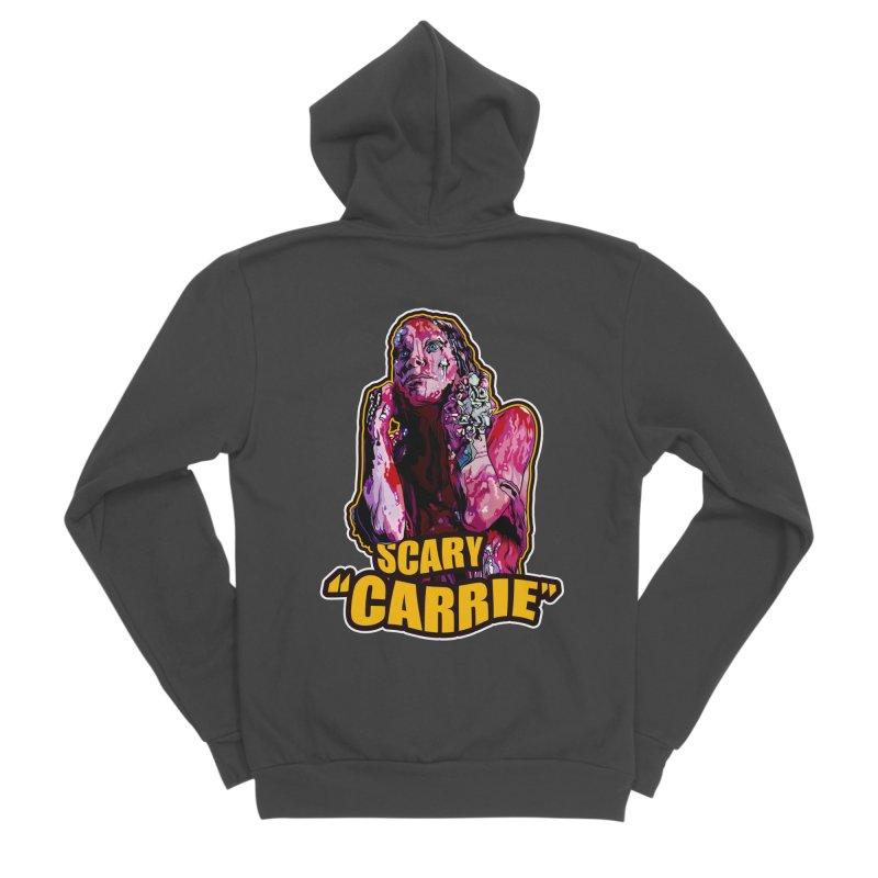 Scary Carrie Women's Sponge Fleece Zip-Up Hoody by pentoolarts's Artist Shop