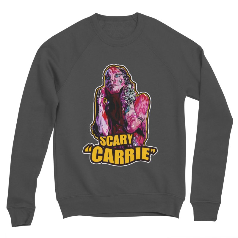 Scary Carrie Men's Sponge Fleece Sweatshirt by pentoolarts's Artist Shop