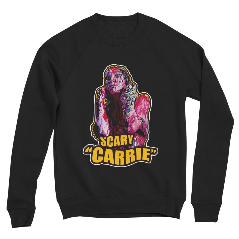 Scary Carrie Women's Sponge Fleece Sweatshirt by pentoolarts's Artist Shop