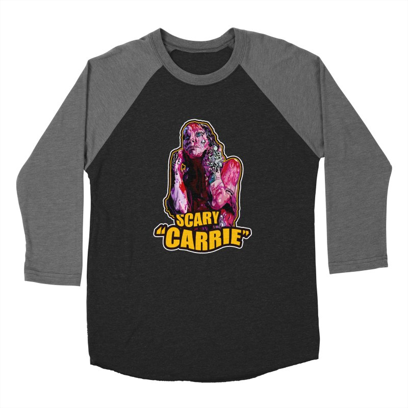 Scary Carrie Women's Baseball Triblend Longsleeve T-Shirt by pentoolarts's Artist Shop