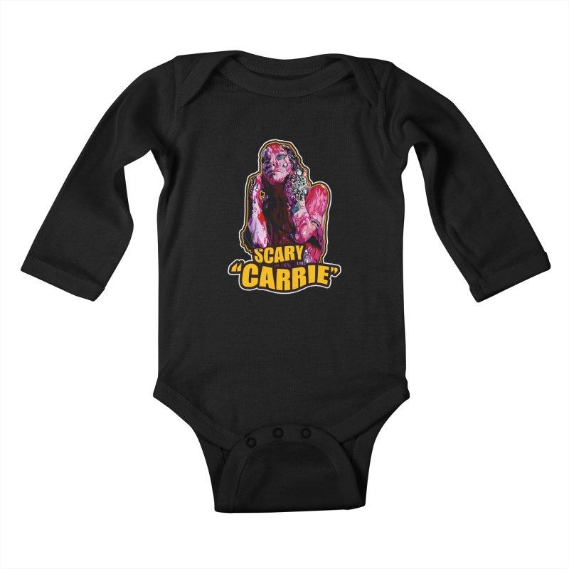 Scary Carrie Kids Baby Longsleeve Bodysuit by pentoolarts's Artist Shop