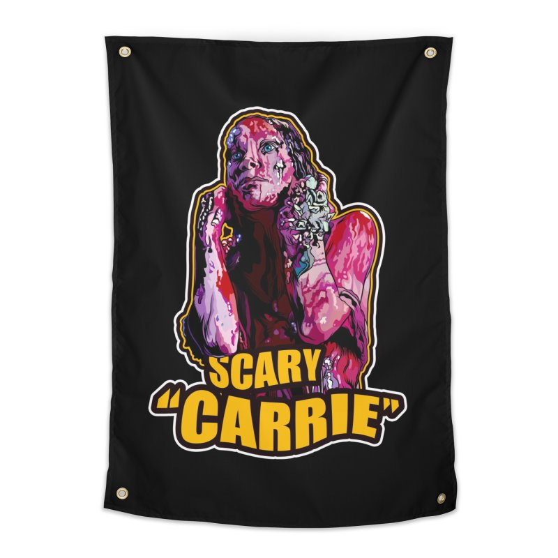 Scary Carrie Home Tapestry by pentoolarts's Artist Shop