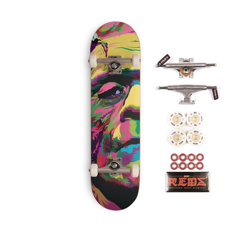 The Monster (Full Colors Version) Accessories Complete - Pro Skateboard by pentoolarts's Artist Shop