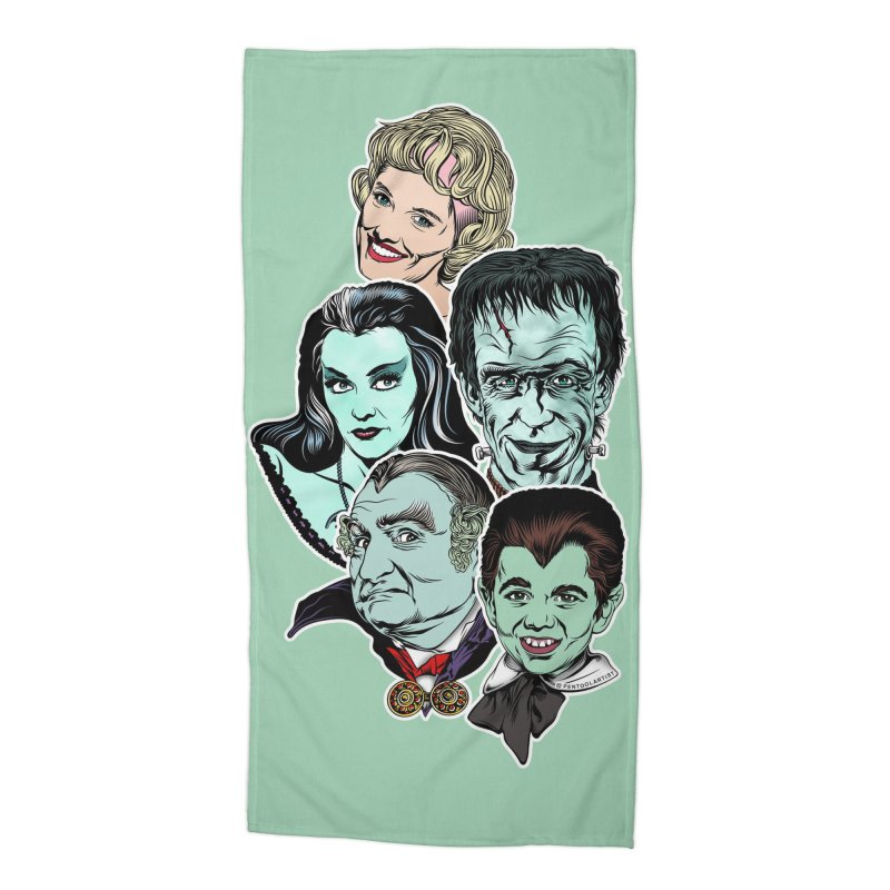 The Munsters RULE! Accessories Beach Towel by pentoolarts's Artist Shop