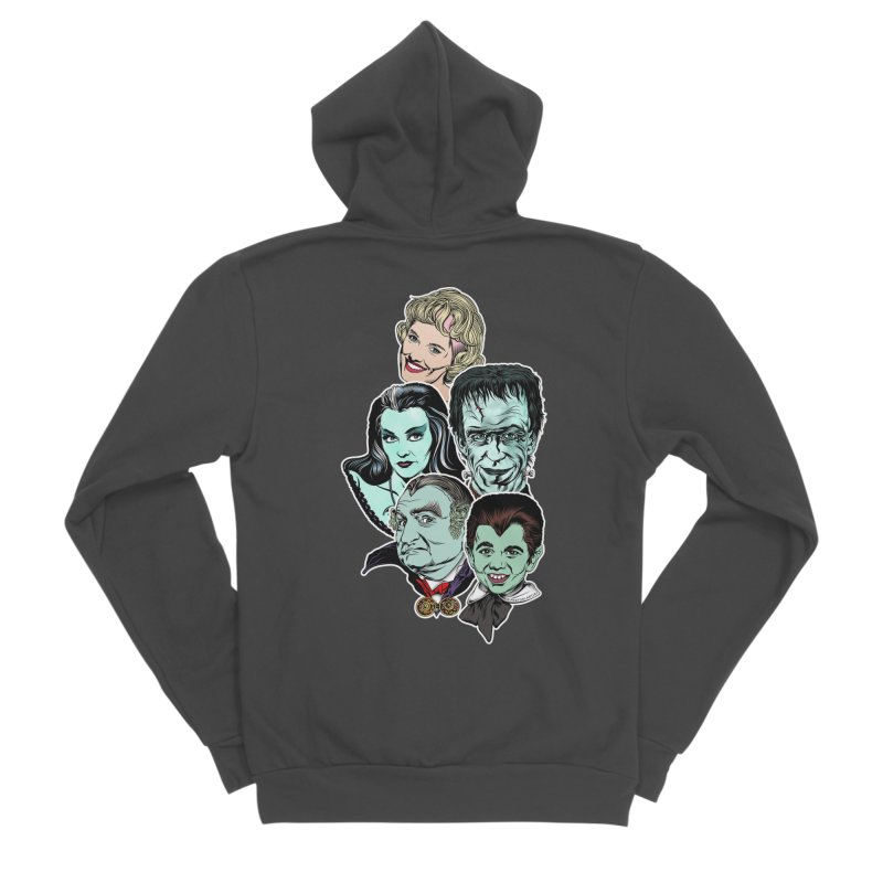 The Munsters RULE! Women's Sponge Fleece Zip-Up Hoody by pentoolarts's Artist Shop