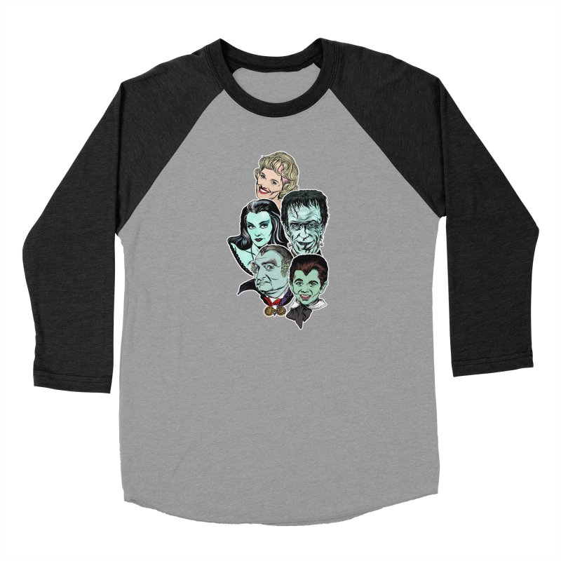 The Munsters RULE! Women's Baseball Triblend Longsleeve T-Shirt by pentoolarts's Artist Shop