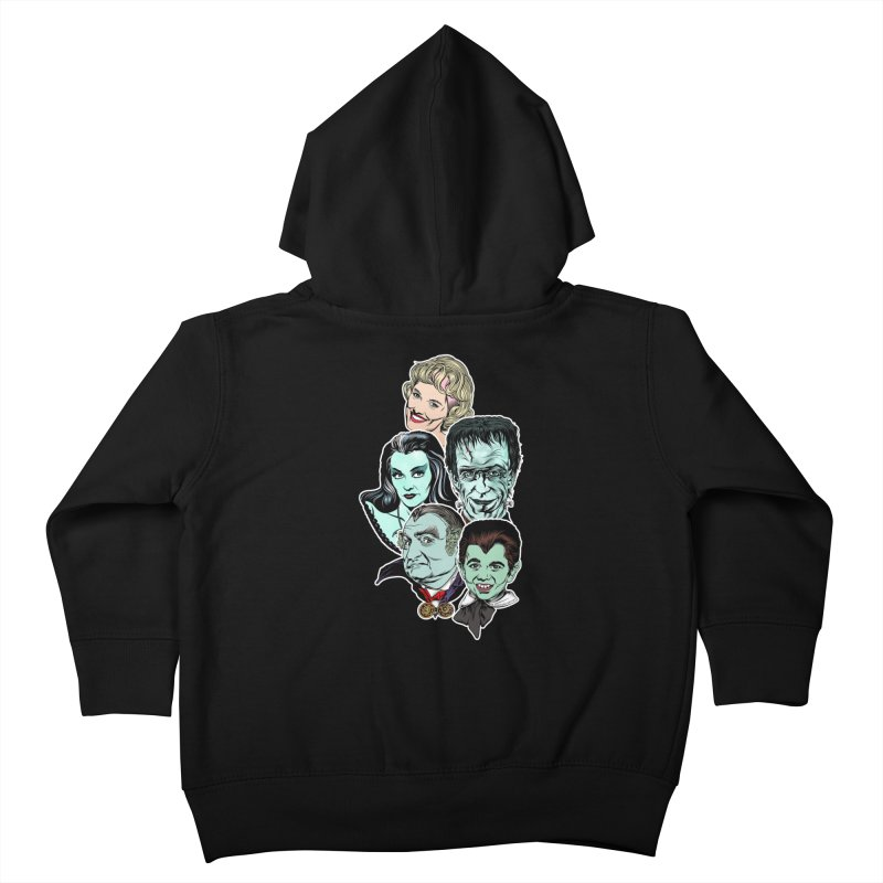 The Munsters RULE! Kids Toddler Zip-Up Hoody by pentoolarts's Artist Shop