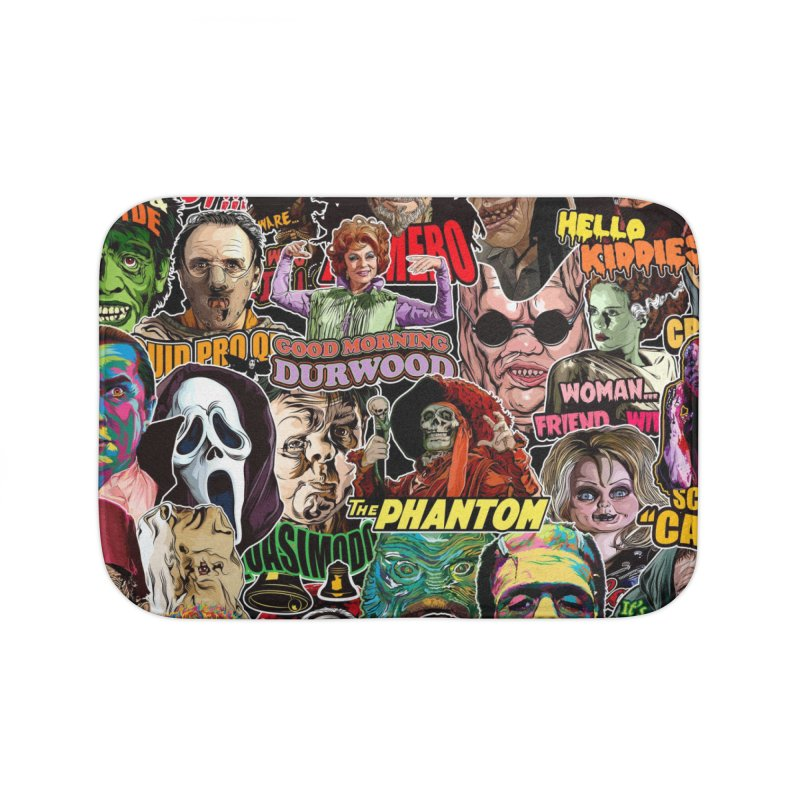 A Wonderful World of Horror Home Bath Mat by pentoolarts's Artist Shop
