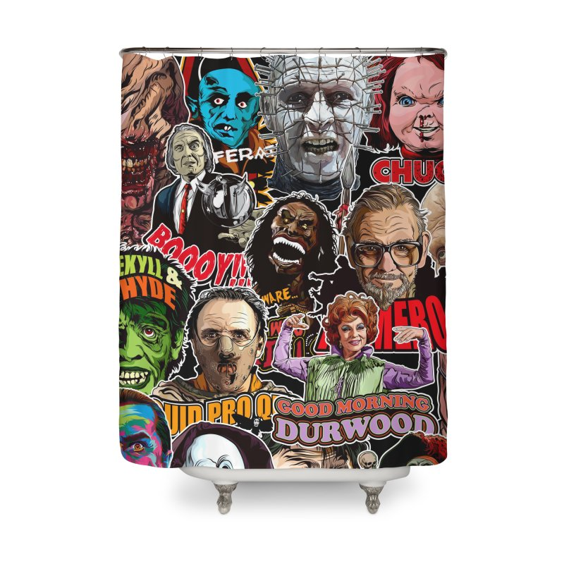 A Wonderful World of Horror Home Shower Curtain by pentoolarts's Artist Shop