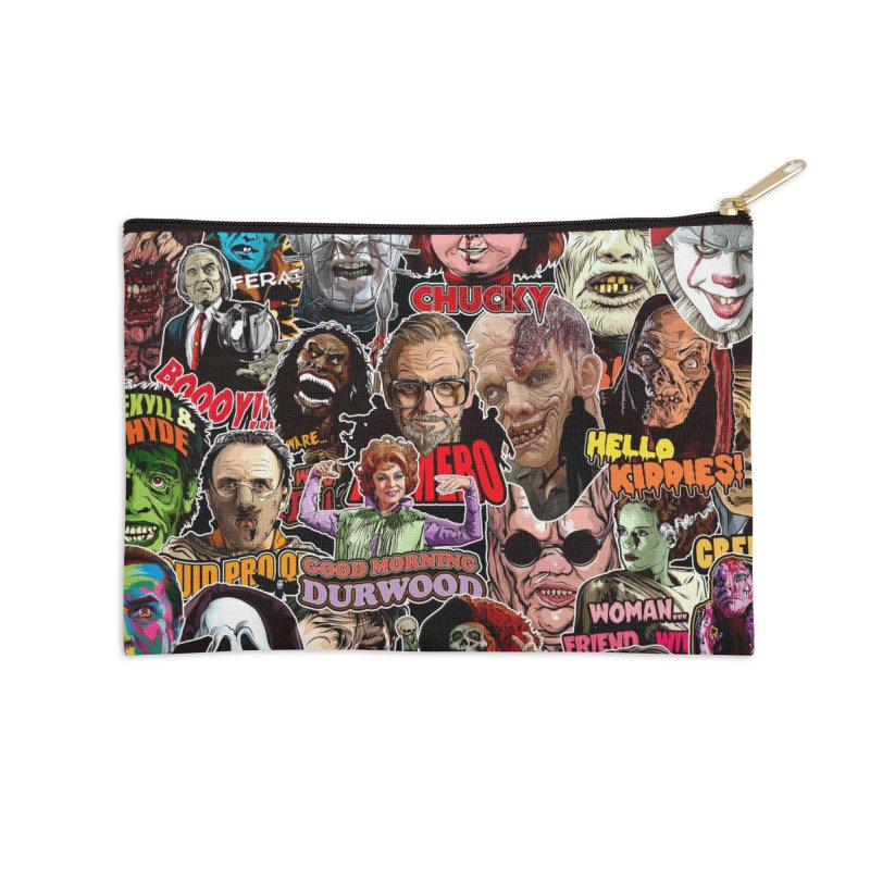 A Wonderful World of Horror Accessories Zip Pouch by pentoolarts's Artist Shop