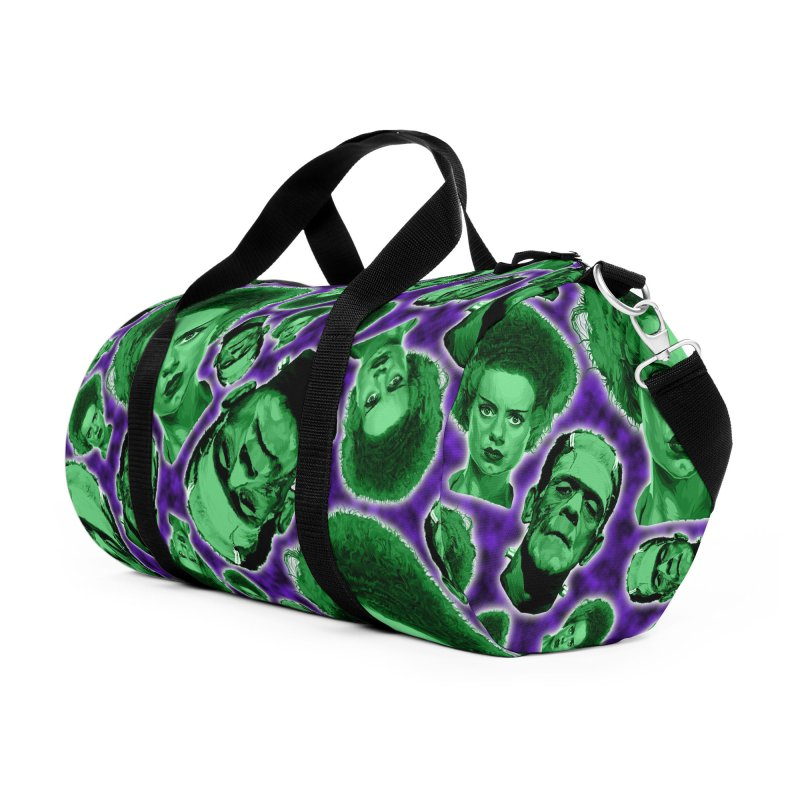 The Happy (and very green) Couple Accessories Duffel Bag Bag by pentoolarts's Artist Shop