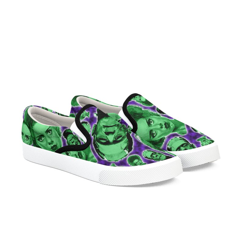 The Happy (and very green) Couple Men's Slip-On Shoes by pentoolarts's Artist Shop