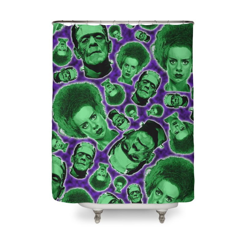 The Happy (and very green) Couple Home Shower Curtain by pentoolarts's Artist Shop