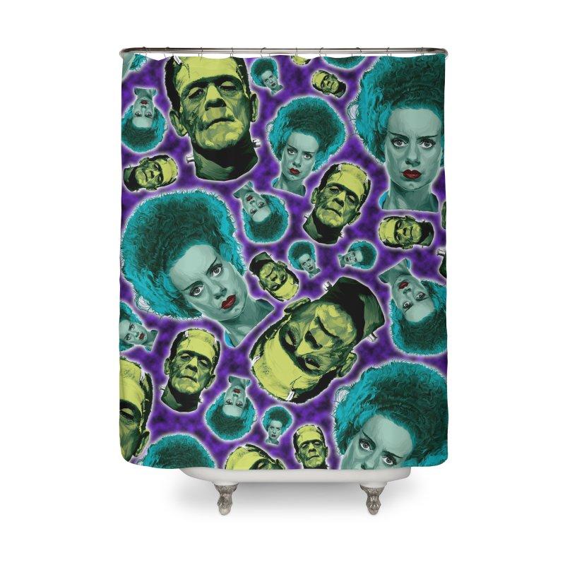 The Bride and Her Man... Home Shower Curtain by pentoolarts's Artist Shop