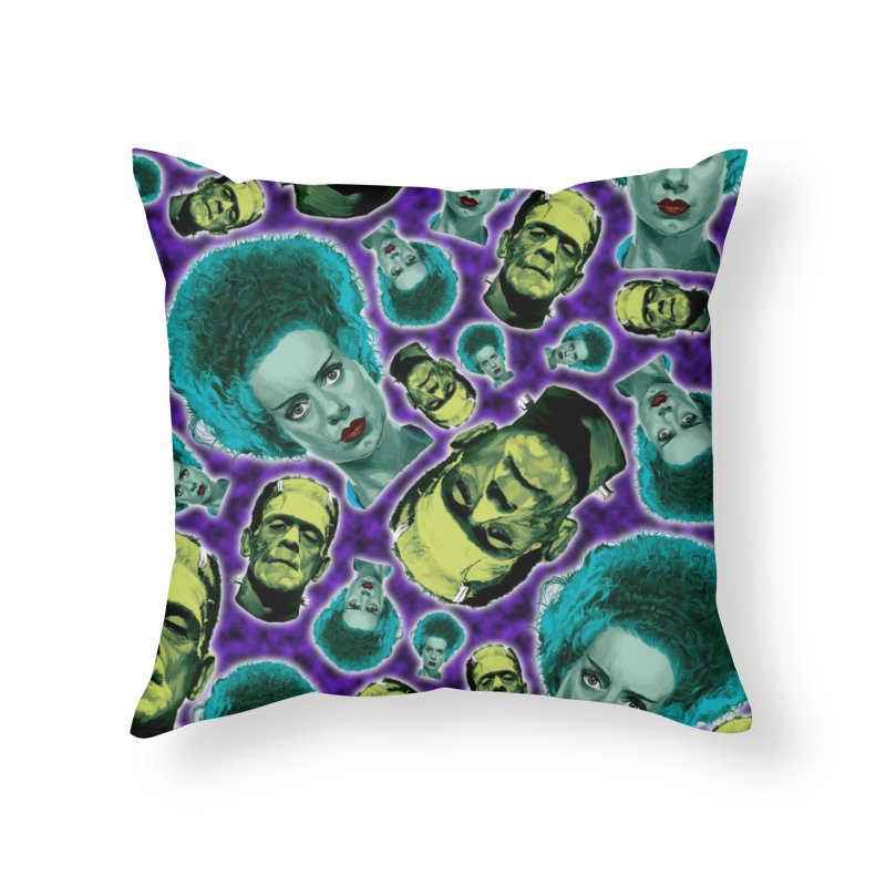 The Bride and Her Man... Home Throw Pillow by pentoolarts's Artist Shop