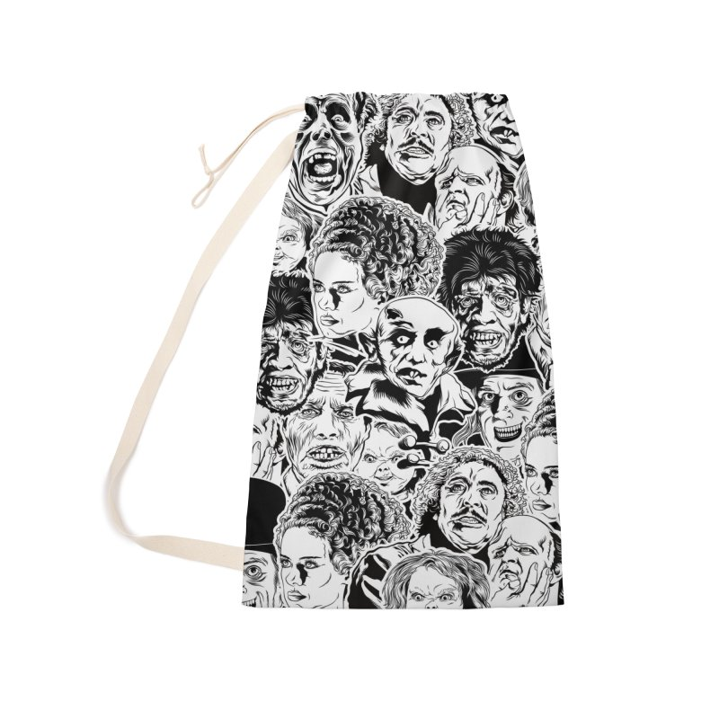 A Graphic Collage of Horror Greats! Accessories Laundry Bag Bag by pentoolarts's Artist Shop