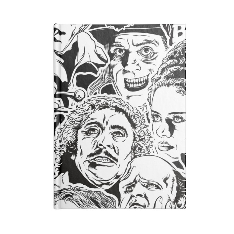 A Graphic Collage of Horror Greats! Accessories Blank Journal Notebook by pentoolarts's Artist Shop