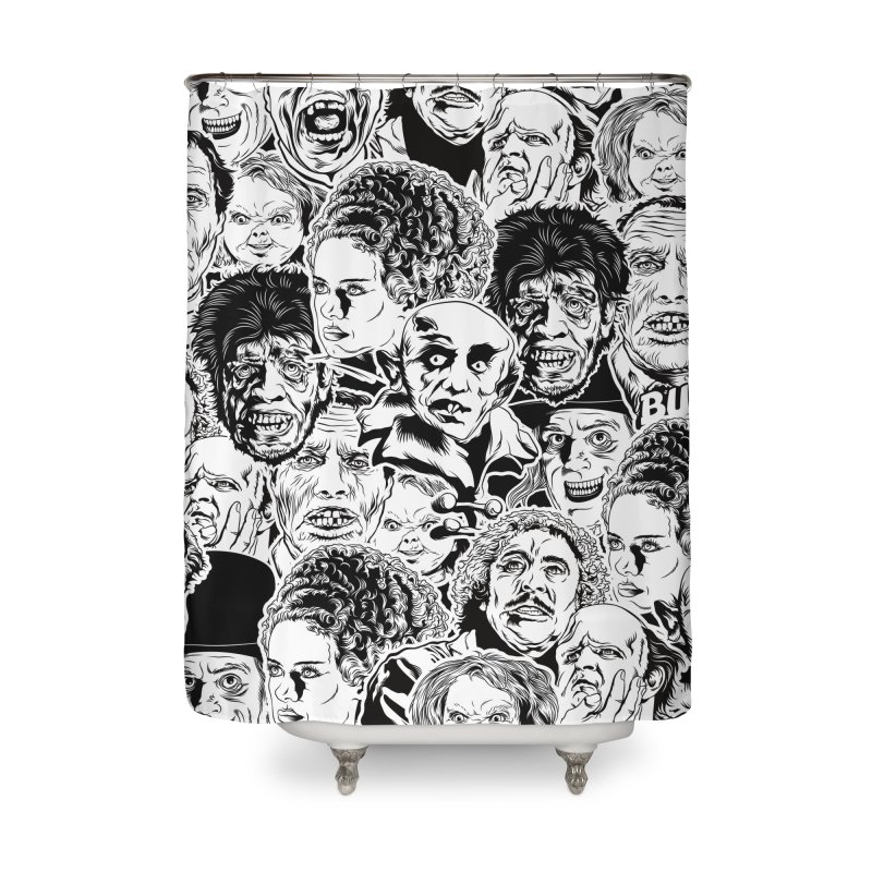 A Graphic Collage of Horror Greats! Home Shower Curtain by pentoolarts's Artist Shop