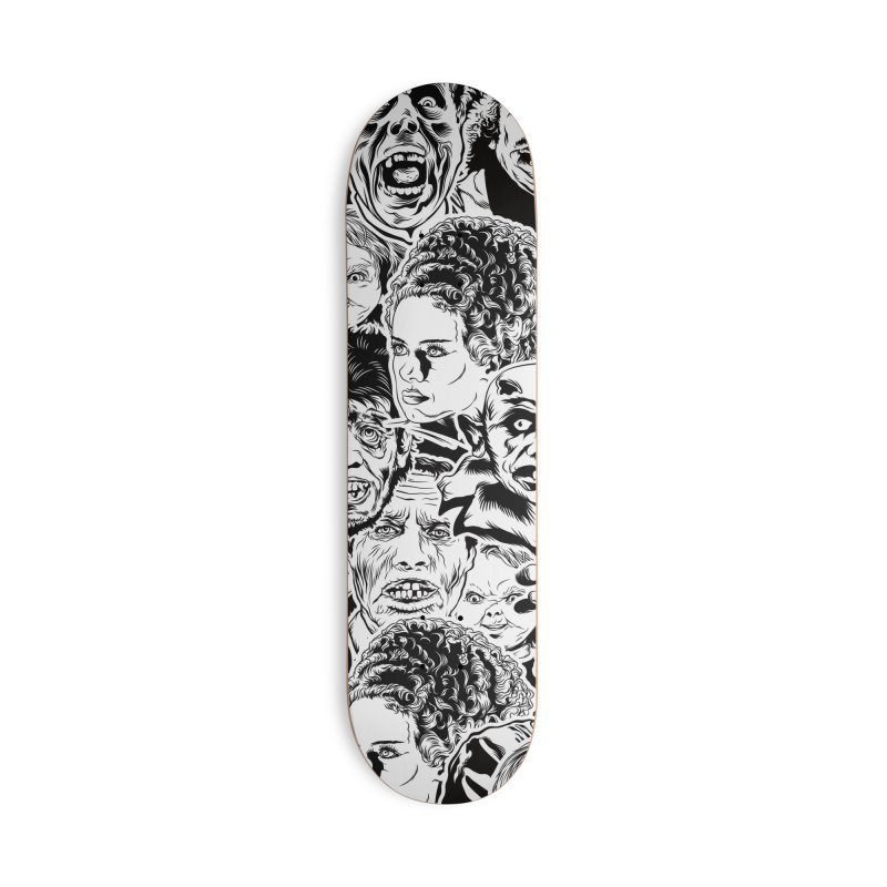 A Graphic Collage of Horror Greats! Accessories Skateboard by pentoolarts's Artist Shop