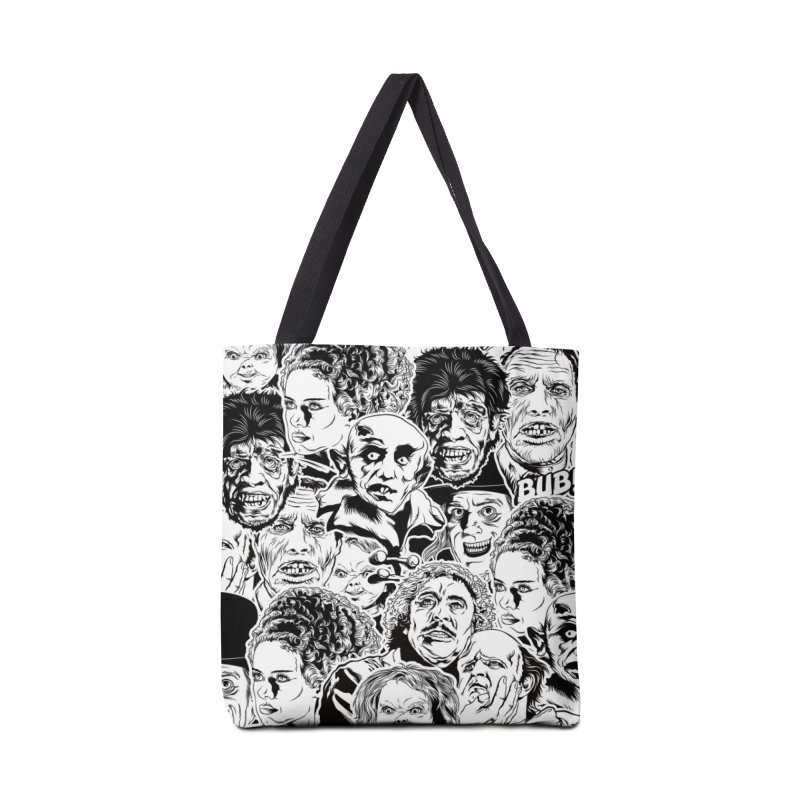 A Graphic Collage of Horror Greats! Accessories Tote Bag Bag by pentoolarts's Artist Shop