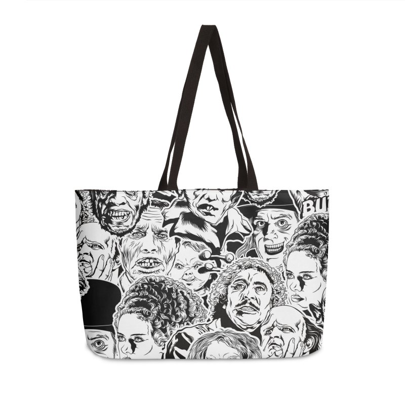 A Graphic Collage of Horror Greats! Accessories Weekender Bag Bag by pentoolarts's Artist Shop