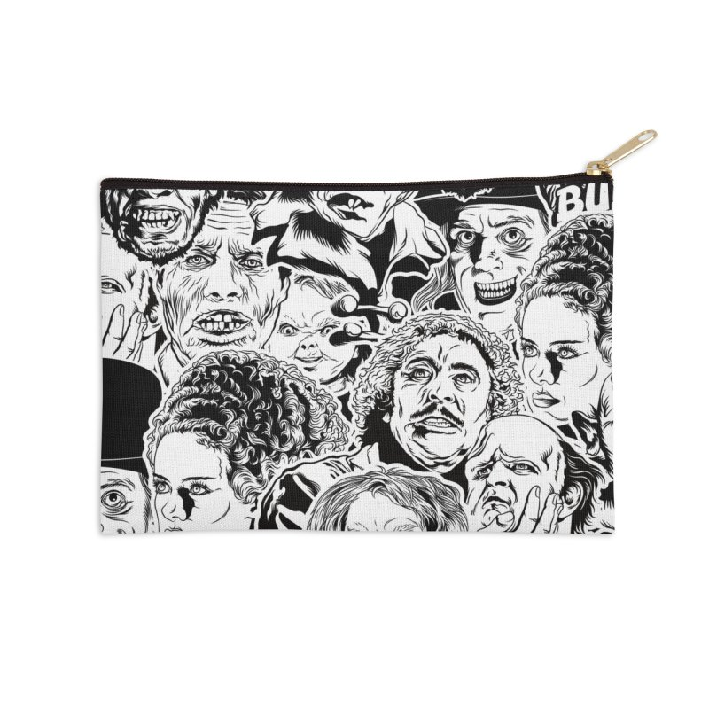 A Graphic Collage of Horror Greats! Accessories Zip Pouch by pentoolarts's Artist Shop