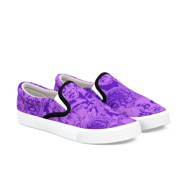 Purple IS Horror... Men's Slip-On Shoes by pentoolarts's Artist Shop