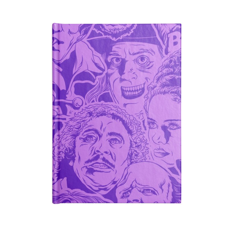 Purple IS Horror... Accessories Blank Journal Notebook by pentoolarts's Artist Shop