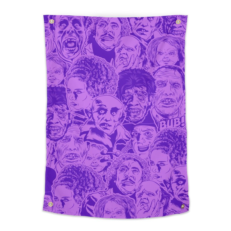 Purple IS Horror... Home Tapestry by pentoolarts's Artist Shop