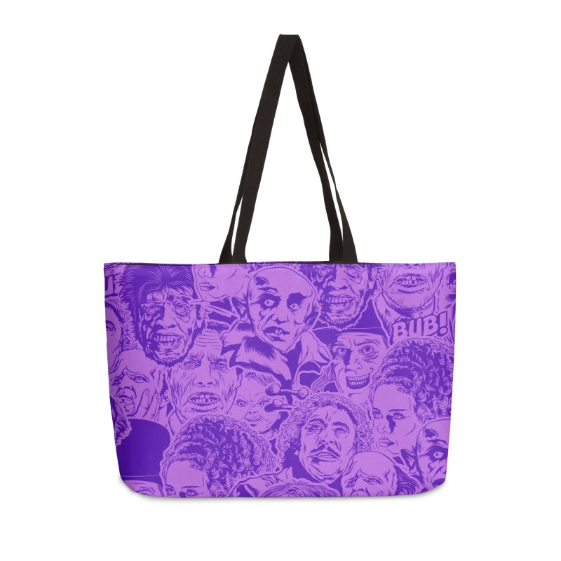 Purple IS Horror... Accessories Weekender Bag Bag by pentoolarts's Artist Shop