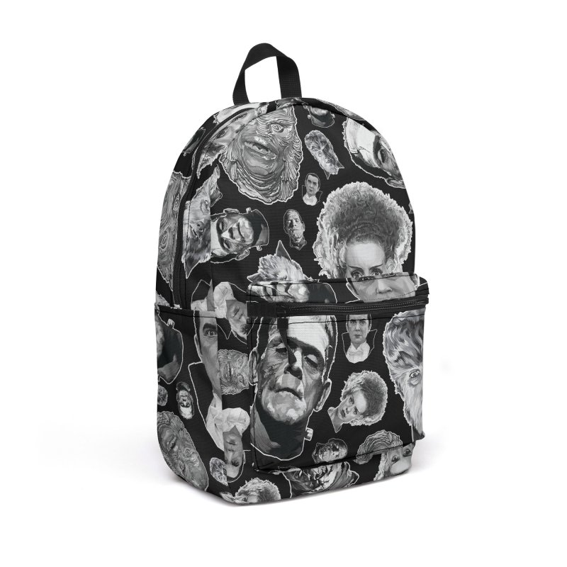 Horror Never Goes Out of Style...  in Black & White! Accessories Backpack Bag by pentoolarts's Artist Shop