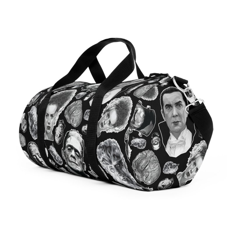 Horror Never Goes Out of Style...  in Black & White! Accessories Duffel Bag Bag by pentoolarts's Artist Shop
