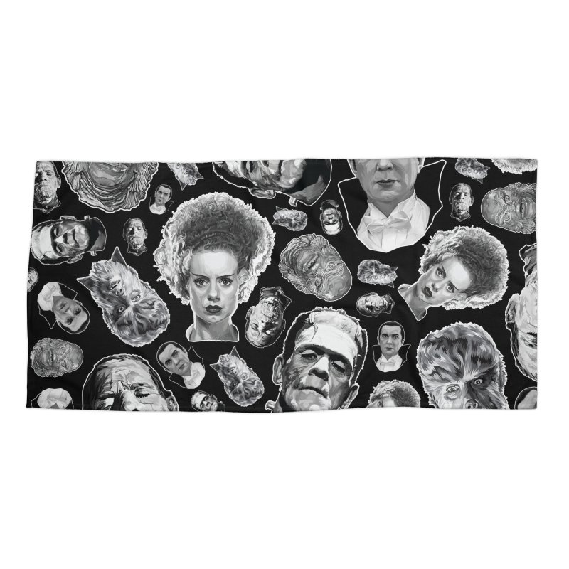 Horror Never Goes Out of Style...  in Black & White! Accessories Beach Towel by pentoolarts's Artist Shop