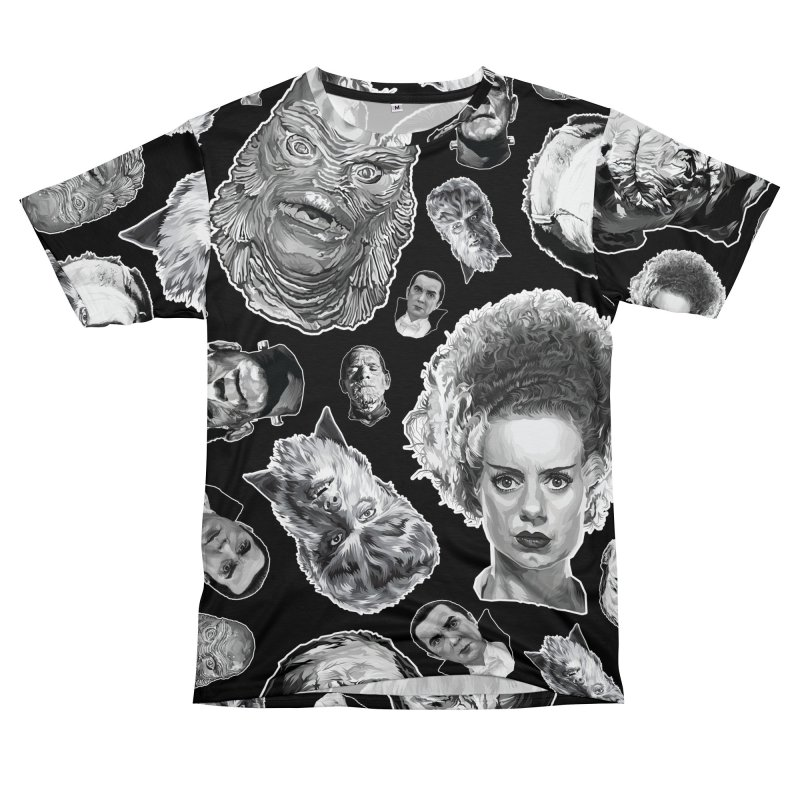 Horror Never Goes Out of Style...  in Black & White! Men's Cut & Sew by pentoolarts's Artist Shop