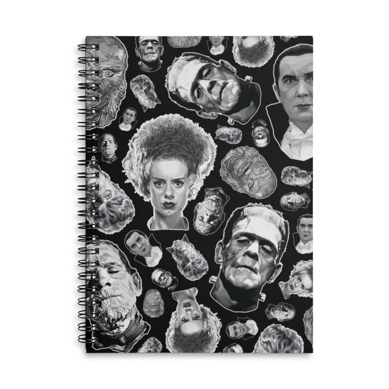 Horror Never Goes Out of Style...  in Black & White! Accessories Lined Spiral Notebook by pentoolarts's Artist Shop