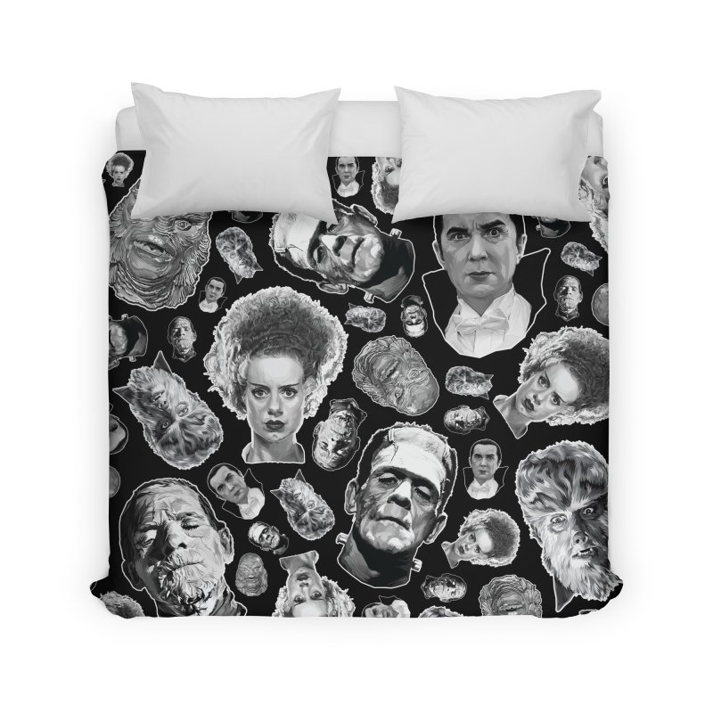 Horror Never Goes Out of Style...  in Black & White! Home Duvet by pentoolarts's Artist Shop