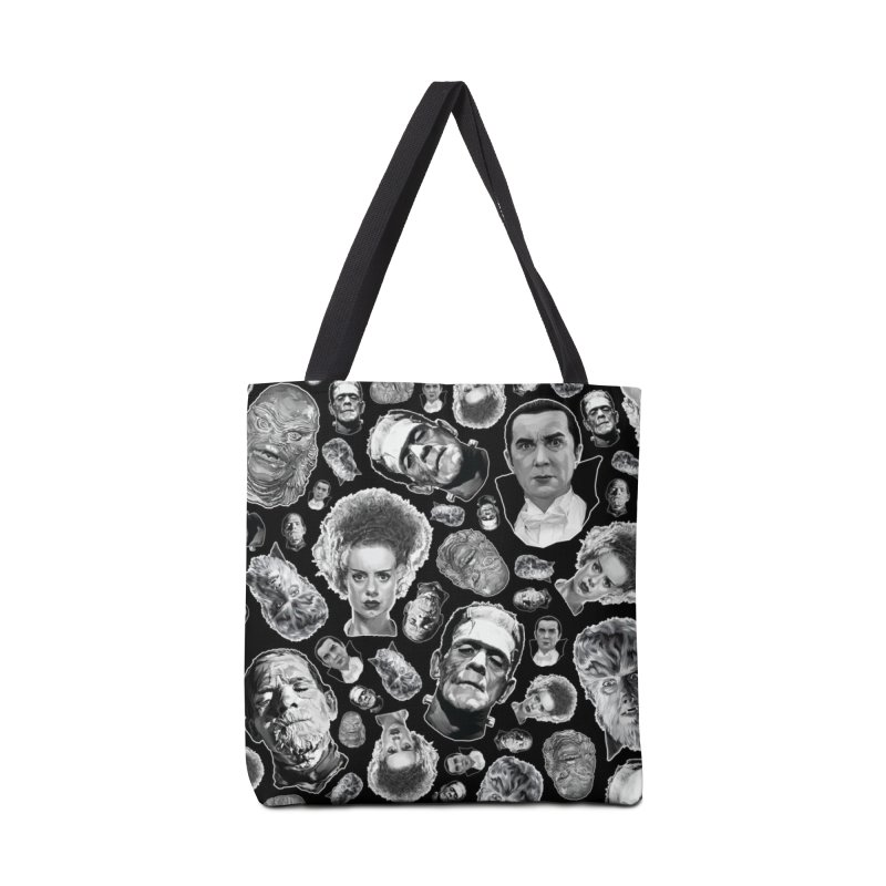 Horror Never Goes Out of Style...  in Black & White! Accessories Tote Bag Bag by pentoolarts's Artist Shop