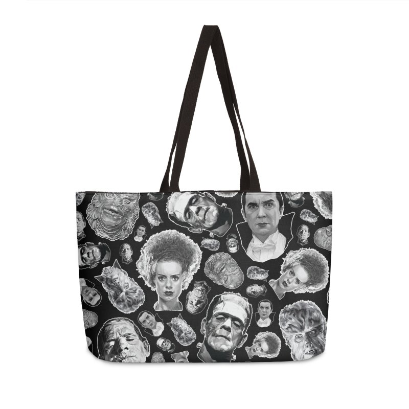Horror Never Goes Out of Style...  in Black & White! Accessories Weekender Bag Bag by pentoolarts's Artist Shop