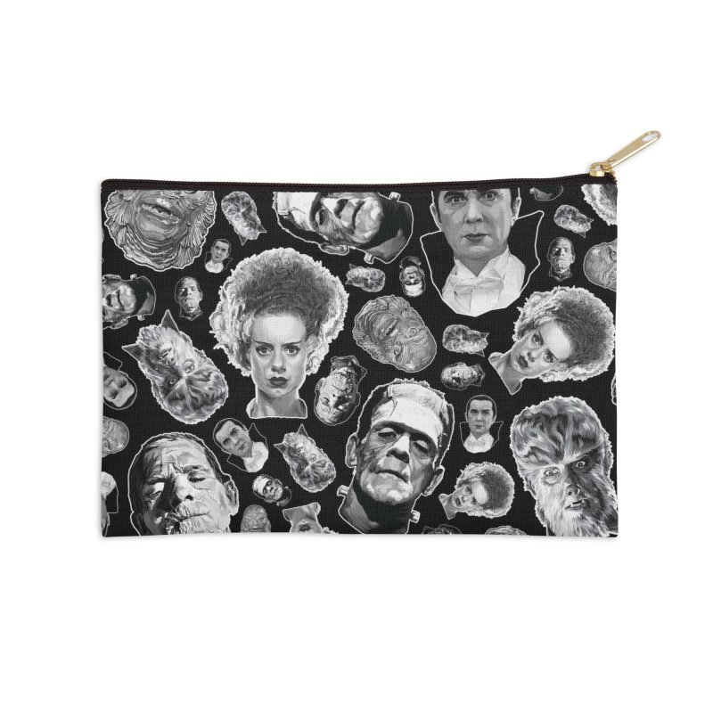 Horror Never Goes Out of Style...  in Black & White! Accessories Zip Pouch by pentoolarts's Artist Shop