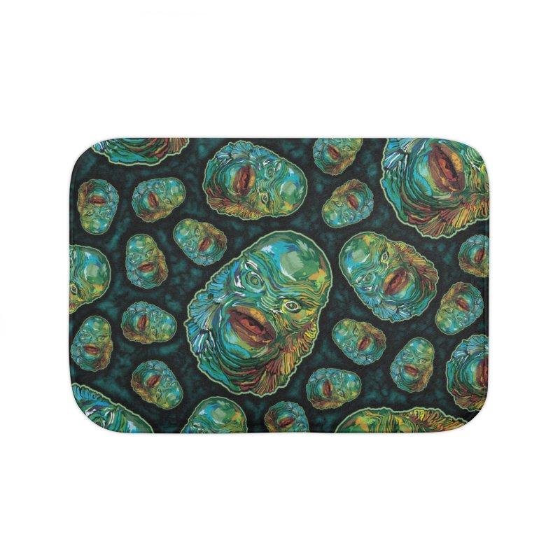 Lots and Lots of Creatures Home Bath Mat by pentoolarts's Artist Shop