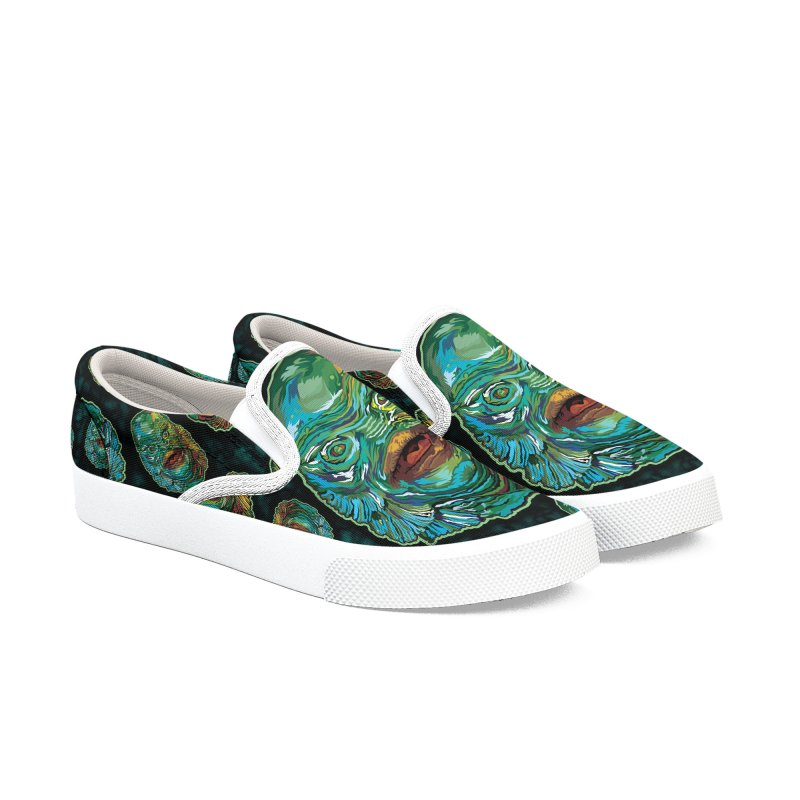 Lots and Lots of Creatures Men's Slip-On Shoes by pentoolarts's Artist Shop