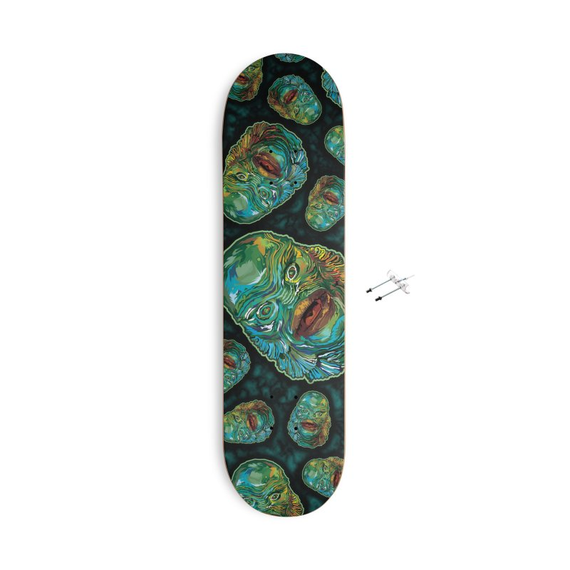 Lots and Lots of Creatures Accessories With Hanging Hardware Skateboard by pentoolarts's Artist Shop