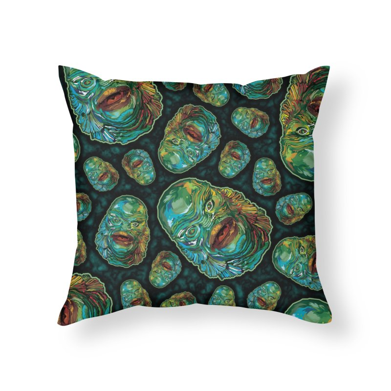 Lots and Lots of Creatures Home Throw Pillow by pentoolarts's Artist Shop