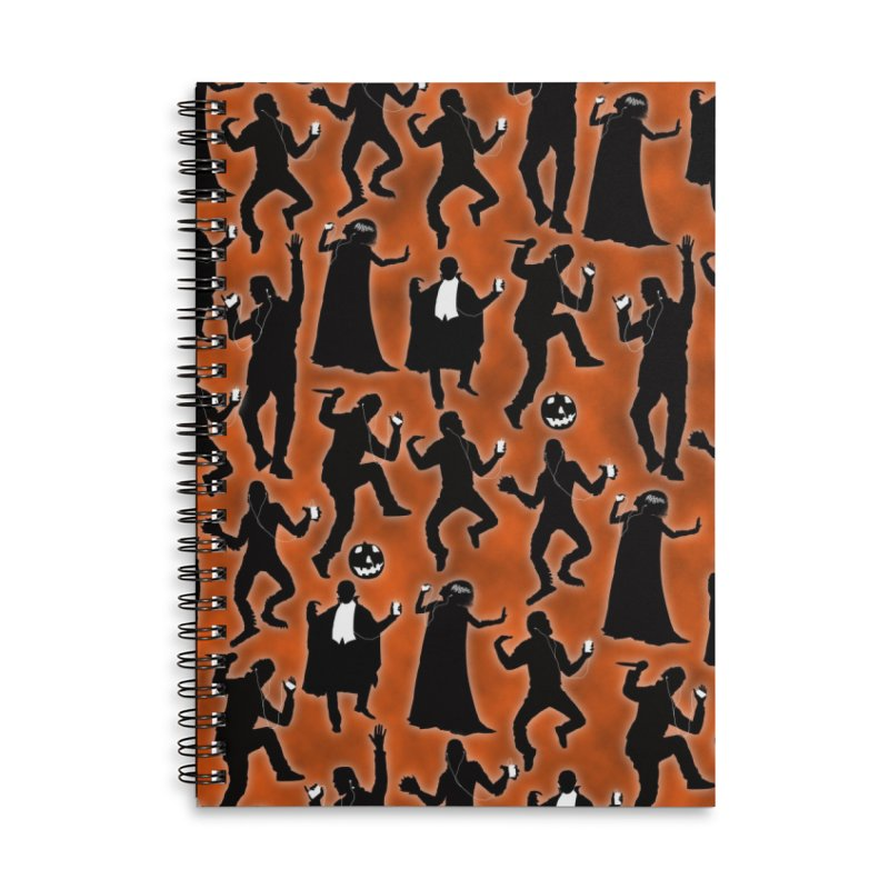 Everybody's Groovin', Everybody's Movin! Accessories Lined Spiral Notebook by pentoolarts's Artist Shop