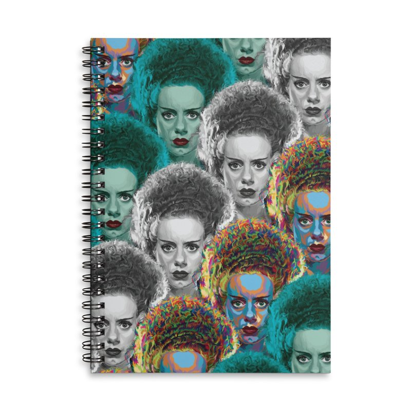 The Bride... Accessories Lined Spiral Notebook by pentoolarts's Artist Shop